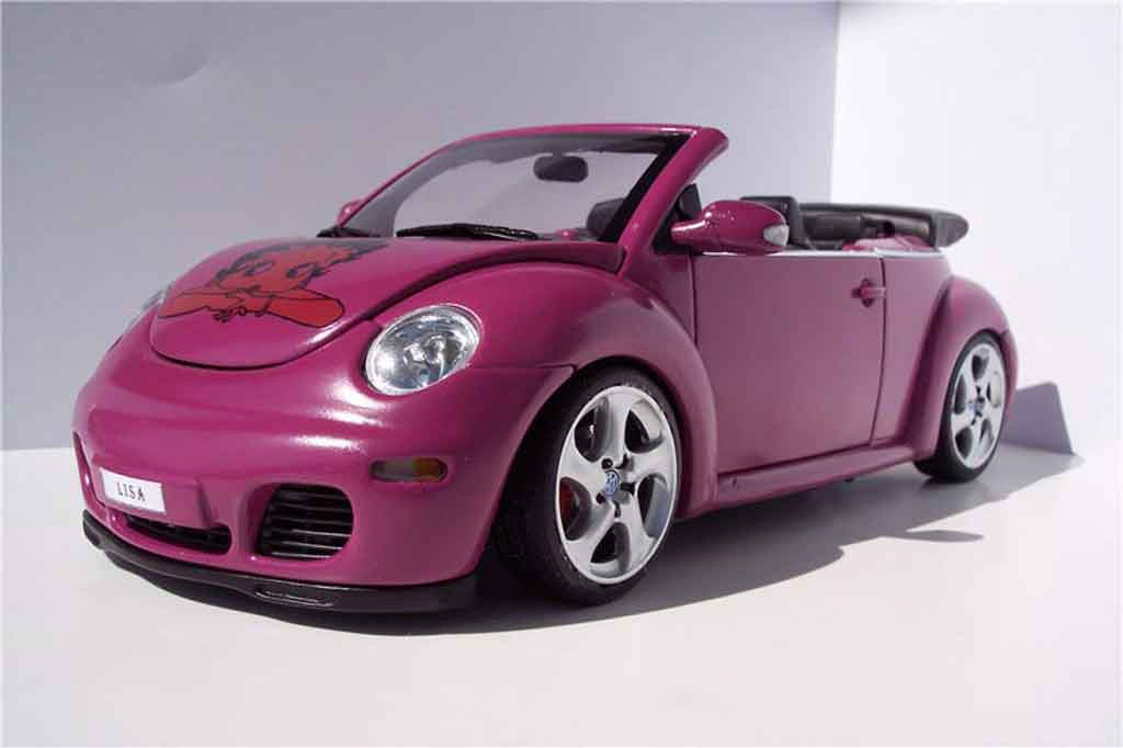 Volkswagen New Beetle cabriolet 1/18 Autoart preparation porsche tuning miniature