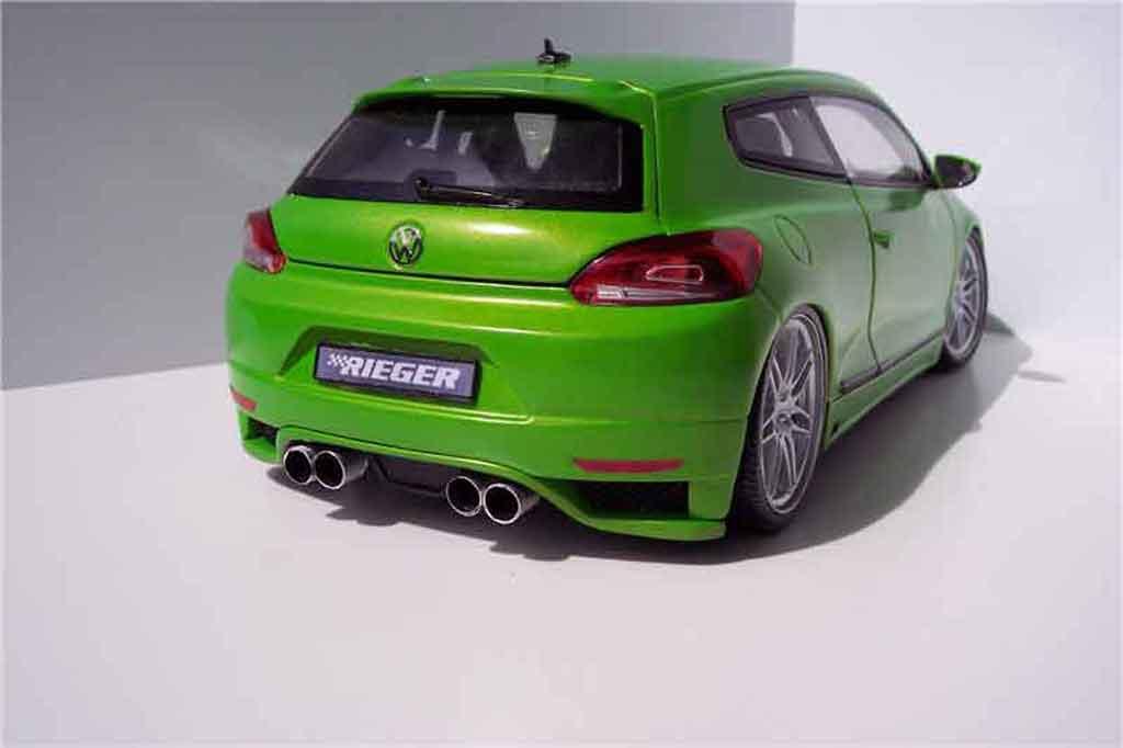 Volkswagen Scirocco 3 gti 2.0 tsi kit carrosserie tuning Norev. Volkswagen Scirocco 3 gti 2.0 tsi kit carrosserie Rieger miniature modèle réduit 1/18