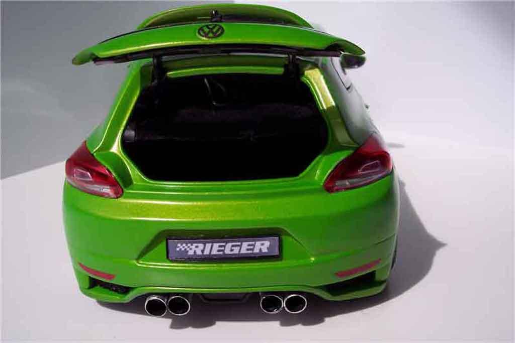 Volkswagen Scirocco 3 gti 2.0 tsi kit carrosserie tuning Norev. Volkswagen Scirocco 3 gti 2.0 tsi kit carrosserie Rieger miniature auto miniature 1/18