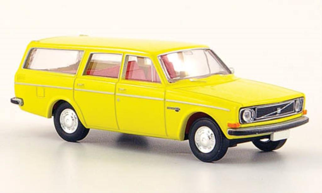 Miniature Volvo 145 jaune Brekina. Volvo 145 jaune miniature 1/87