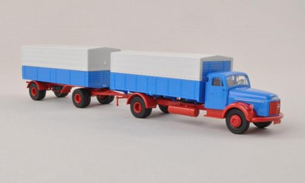 Volvo N88 P/P-Zug bleu mit rougeem Chassis Brekina. Volvo N88 P/P-Zug bleu mit rougeem Chassis miniature  1%2F87