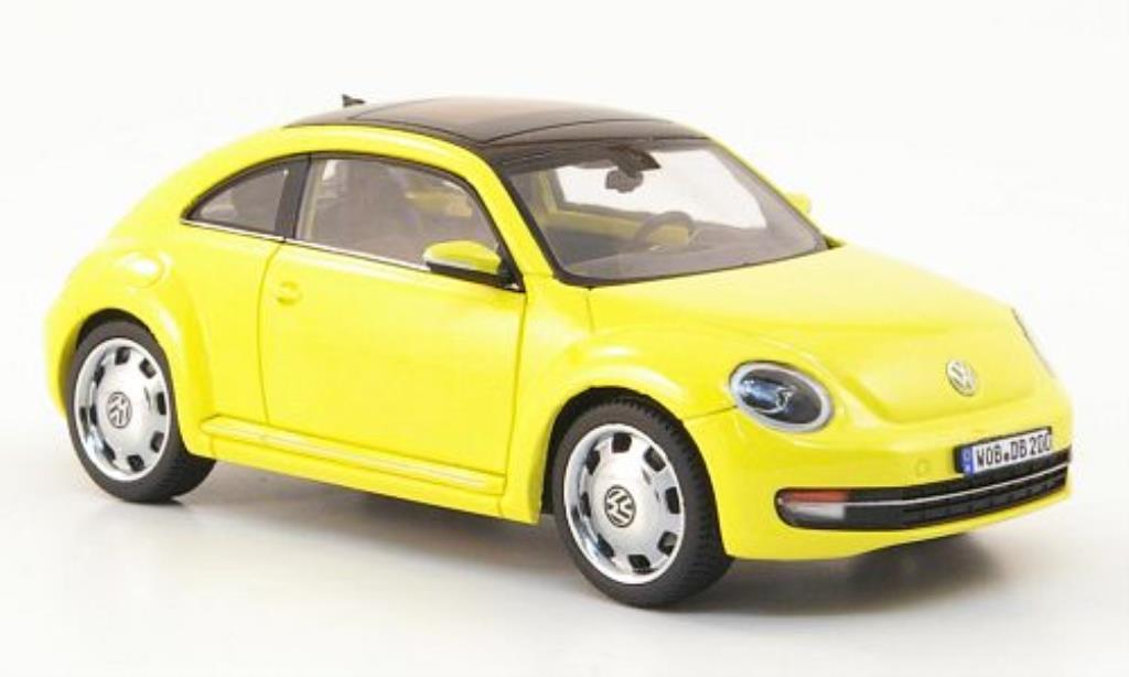 Volkswagen Beetle 1/43 Schuco jaune 2011 miniature