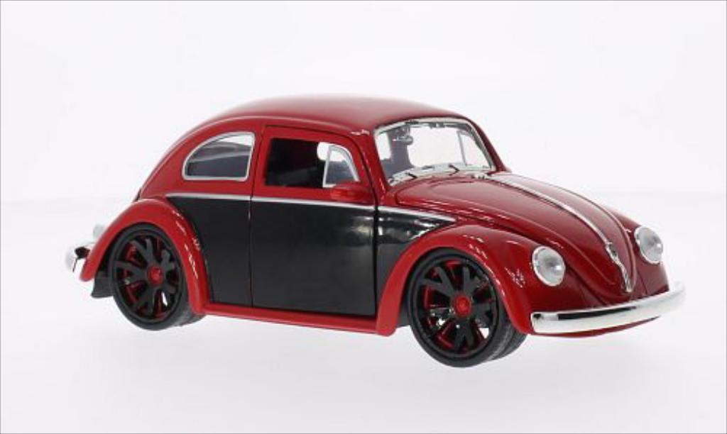 volkswagen beetle kafer tuning rot schwarz 1959 jada toys modellauto 1 24 kaufen verkauf. Black Bedroom Furniture Sets. Home Design Ideas