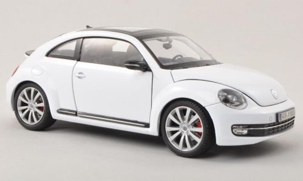 Volkswagen Beetle 1/24 Welly blanche 2012 miniature