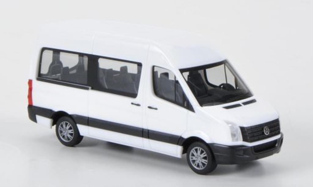Volkswagen Crafter 1/87 Herpa Bus HD blanche 2011 miniature