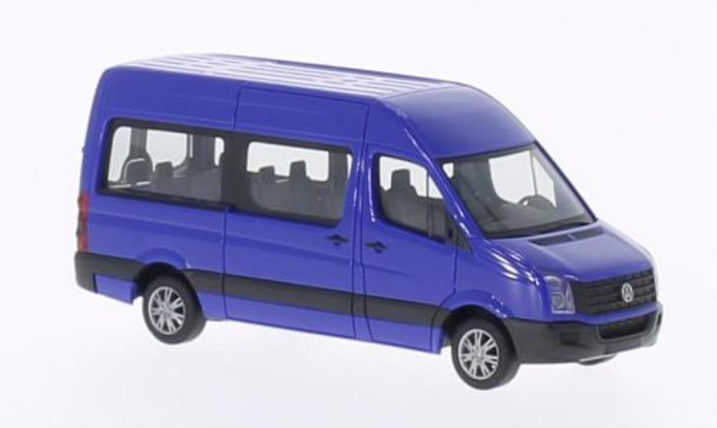 Volkswagen Crafter 1/87 Herpa Bus Hochdach bleu 2011 miniature