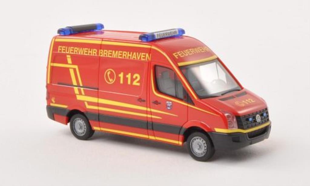Volkswagen Crafter 1/87 Herpa HD Feuerwehr Bremerhaven miniature