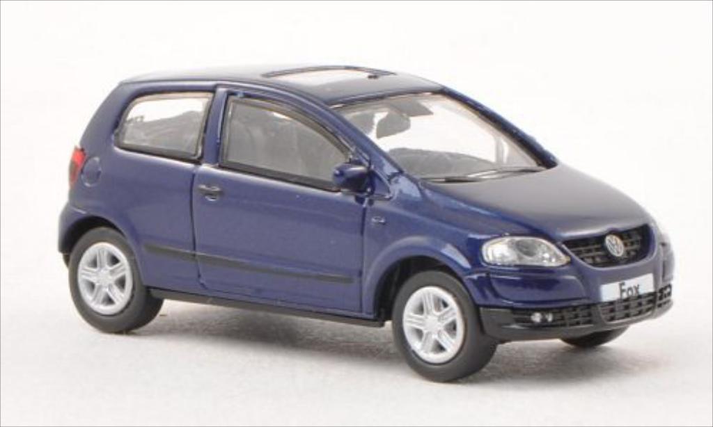 Volkswagen Fox 1/87 Norev bleu 2005 miniature