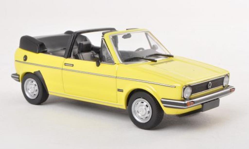 Volkswagen Golf I 1/43 Minichamps Cabriolet jaune 1980 miniature