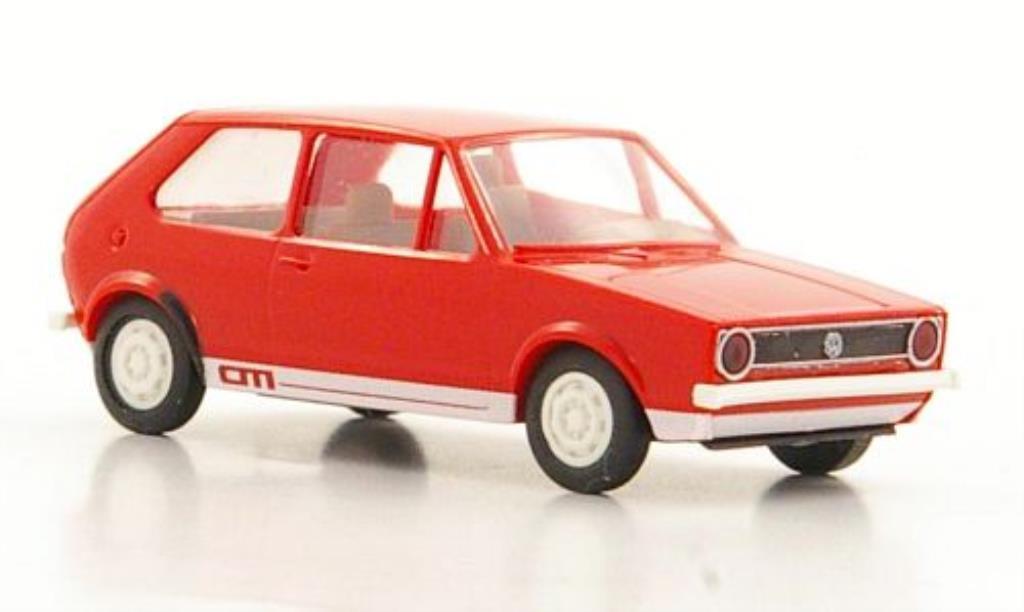 Volkswagen Golf I 1/87 Brekina Citi rot 3-Turer modellautos