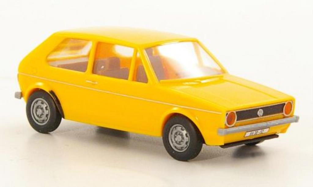 Volkswagen Golf I 1/87 Brekina yellow DDR