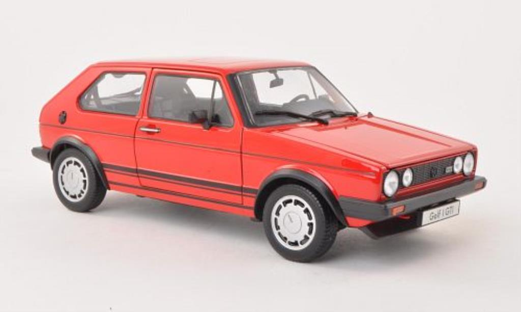 Volkswagen Golf I 1/18 Welly GTI roja 1982 miniatura