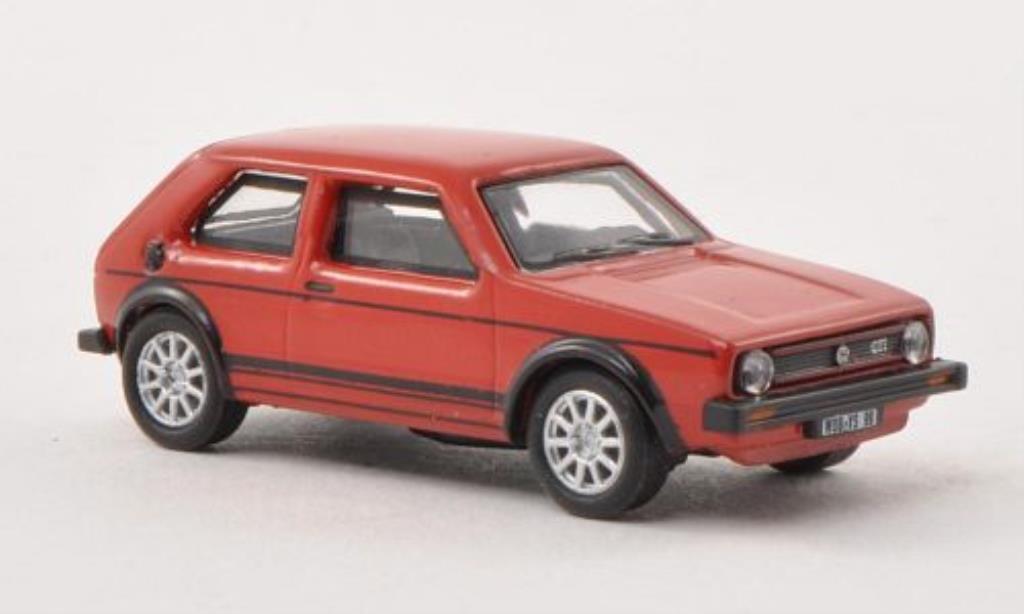 Volkswagen Golf I 1/87 Schuco GT rojo coche miniatura
