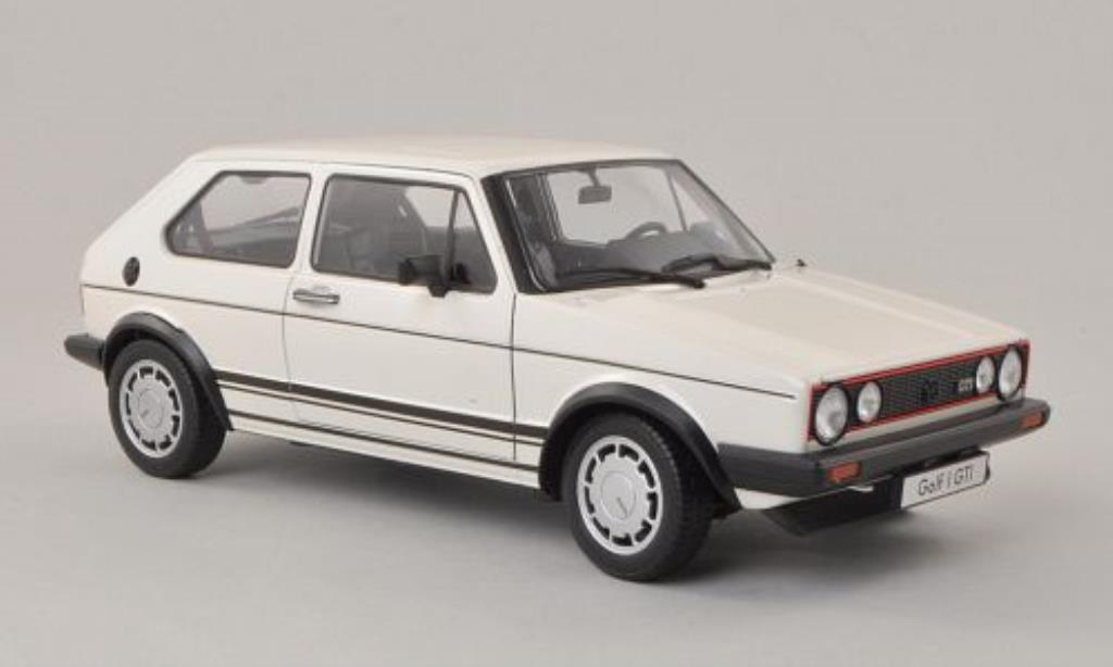 Volkswagen Golf I 1/18 Welly GTI blanco 1982 miniatura