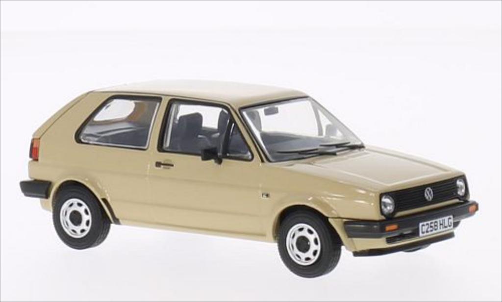 volkswagen golf 2 1 3c beige rhd vanguards modellauto 1 43. Black Bedroom Furniture Sets. Home Design Ideas