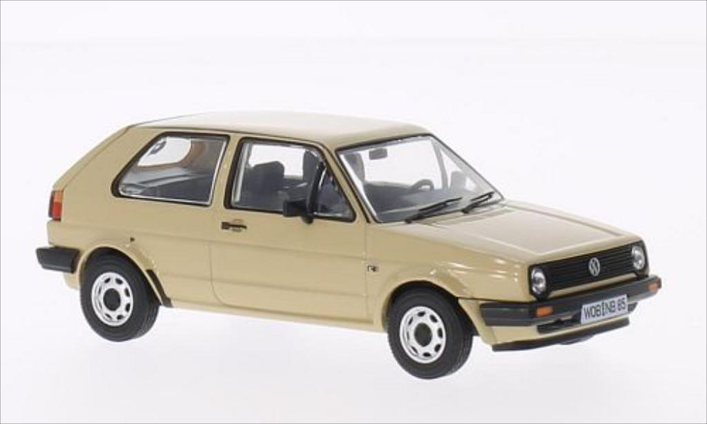 Volkswagen Golf 2 1/43 Vanguards 1.3C beige miniature
