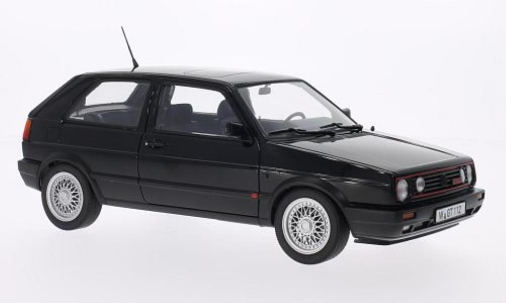 Volkswagen Golf 2 G60 1/18 Norev black 1990 diecast model cars