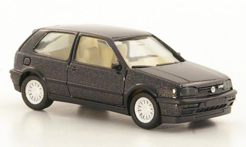 Volkswagen Golf III 1/87 Herpa VR6 noire 2-Turer miniature