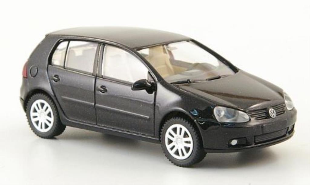 Volkswagen Golf V 1/87 Wiking black 5-Turer 2003 diecast model cars