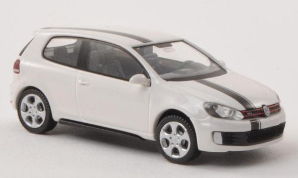 Volkswagen Golf VI 1/87 Wiking GTI white/black diecast
