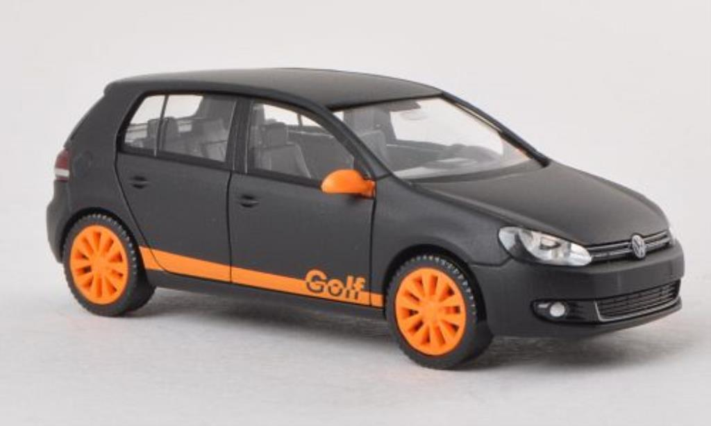 Volkswagen Golf VI 1/87 Wiking mattnoire/orange miniature