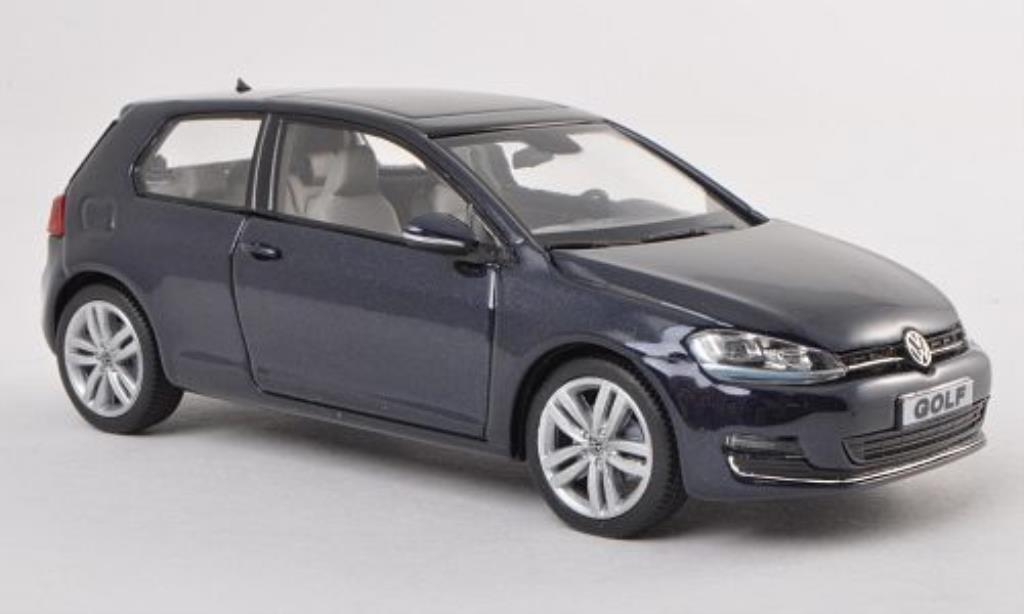 volkswagen golf vii miniature bleu 3 turer herpa 1 43 voiture. Black Bedroom Furniture Sets. Home Design Ideas