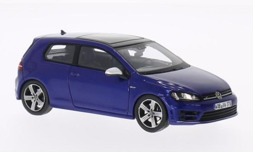 volkswagen golf vii miniature r bleu 3 turer spark 1 43 voiture. Black Bedroom Furniture Sets. Home Design Ideas
