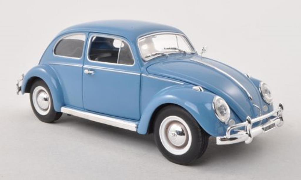 Volkswagen Kafer 1/24 WhiteBox 1200 bleu-grise 1961 miniature