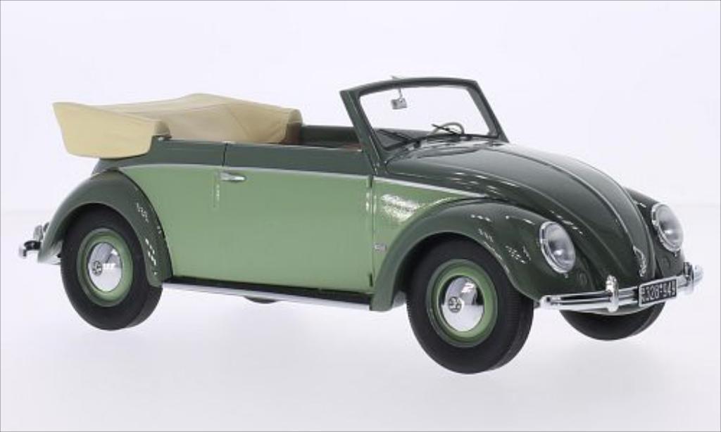 Volkswagen Kafer 1/18 Minichamps 1200 Cabrio verte/verte 1949 miniature