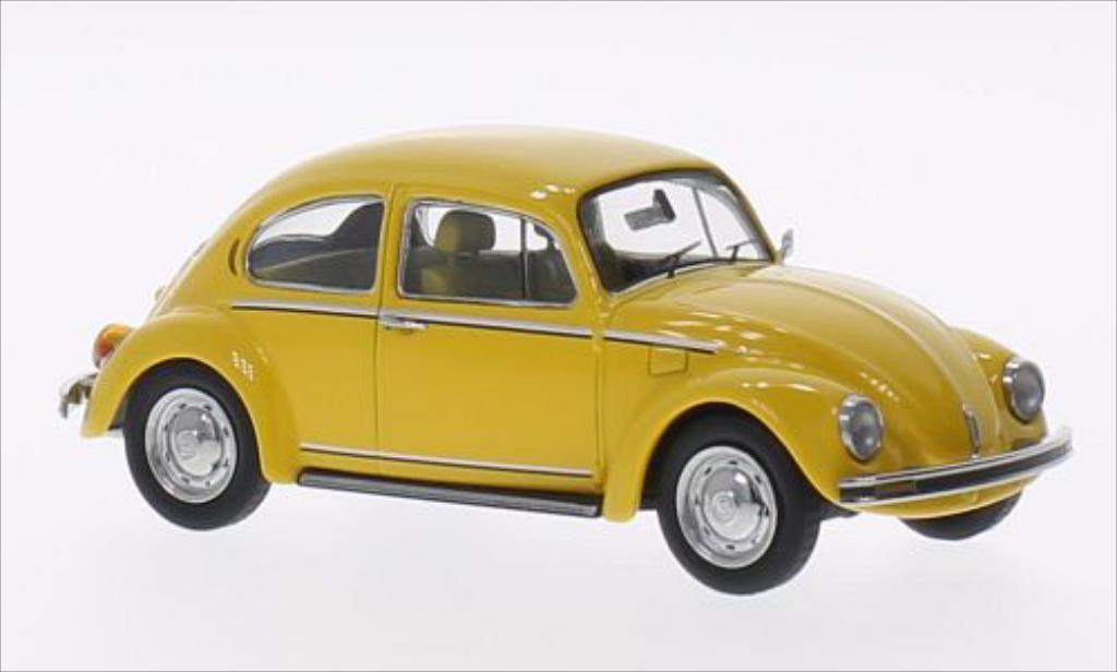 Volkswagen Kafer 1/43 Schuco 1200 Sunny Bug jaune miniature