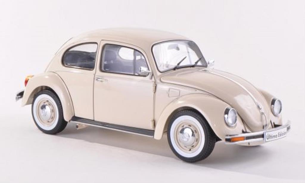 Volkswagen Kafer 1/18 Schuco 1600i ?ltima Edici?n beige 2003 diecast model cars