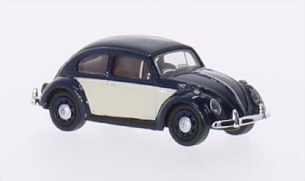 Volkswagen Kafer 1/87 Schuco bleu/blanche miniature