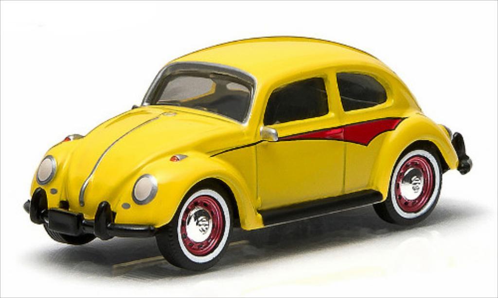 Volkswagen Kafer 1/64 Greenlight jaune miniature