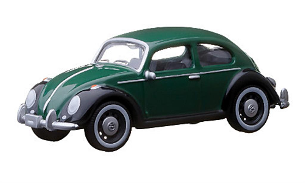 Volkswagen Kafer 1/64 Greenlight verte/noire miniature