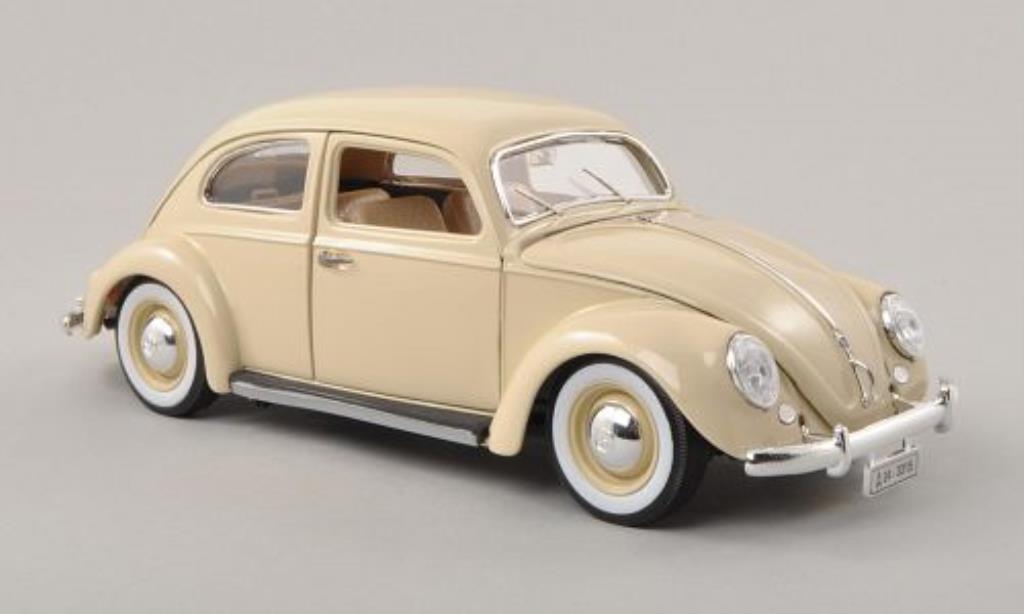 Volkswagen Kafer 1/18 Burago beige 1955 modellino in miniatura