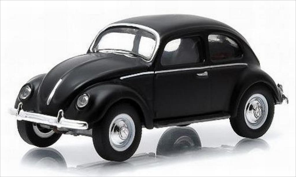 Volkswagen Kafer 1/64 Greenlight matt-noire 1952 miniature