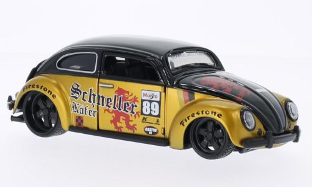 Volkswagen Kafer 1/24 Maisto No.89 Schneller black/gold diecast model cars