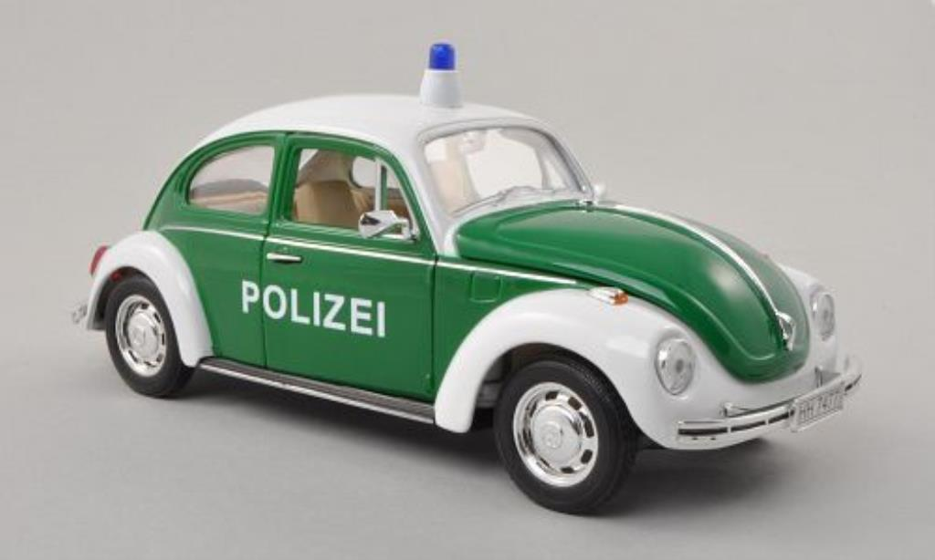 Volkswagen Kafer 1/24 Welly Polizei verte/blanche 1972 miniature