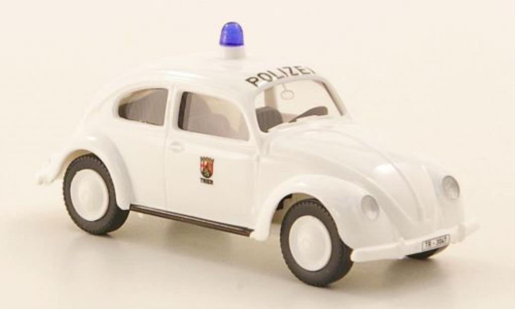Volkswagen Kafer 1/87 Wiking Polizei Trier Brezelkafer miniature