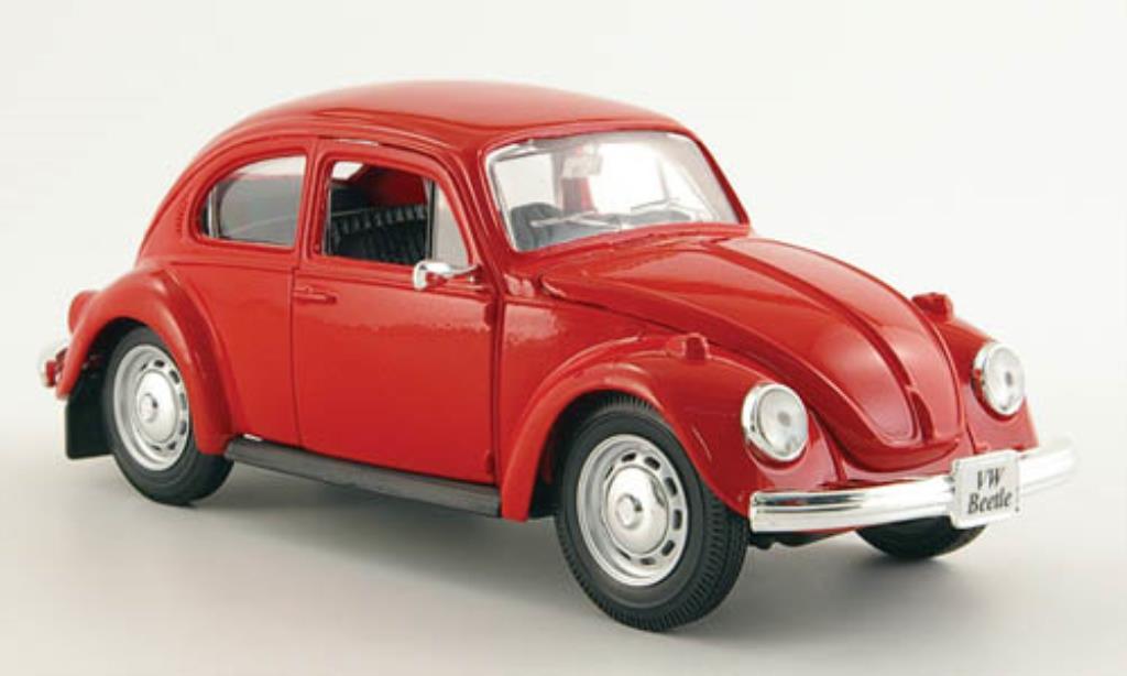 Volkswagen Kafer 1/24 Maisto rouge 1973 miniature