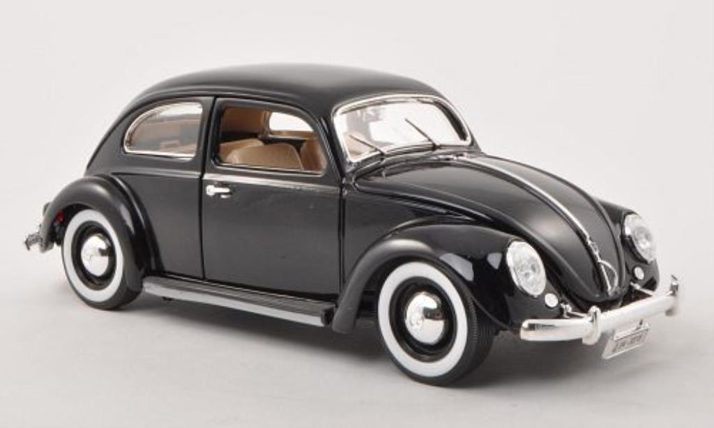 Volkswagen Kafer 1/18 Burago nero 1955 modellino in miniatura
