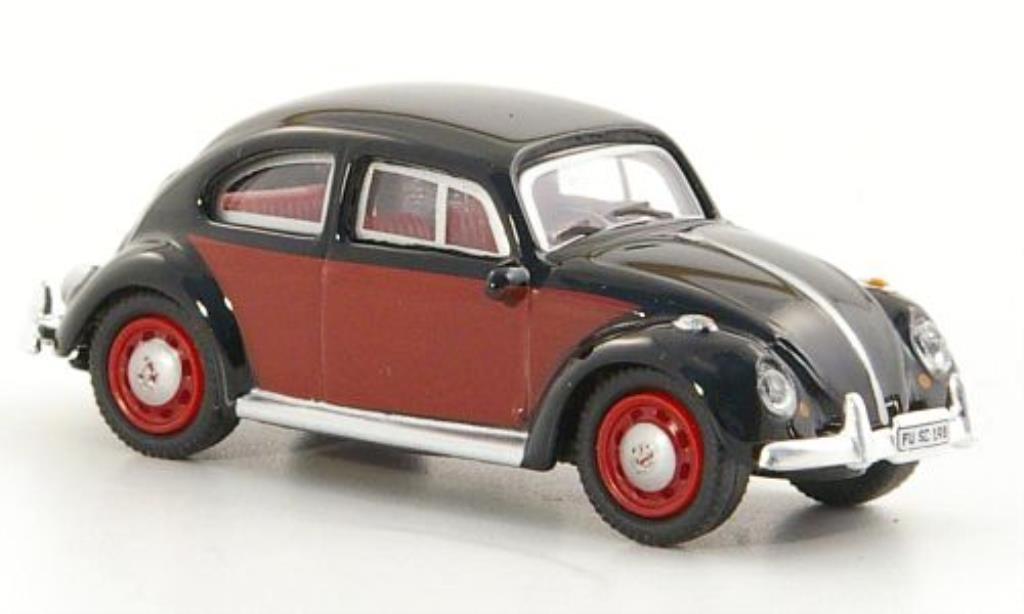 Volkswagen Kafer 1/87 Schuco noire/rouge miniature
