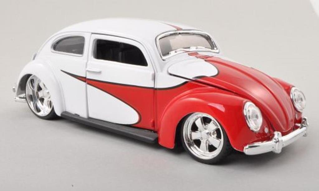Volkswagen Kafer 1/24 Maisto Tuning rouge/blanche miniature