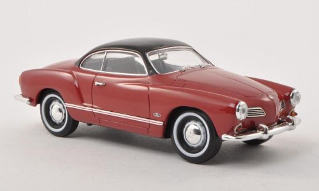 Volkswagen Karmann 1/32 Schuco Ghia (Typ 14) rouge/noire miniature