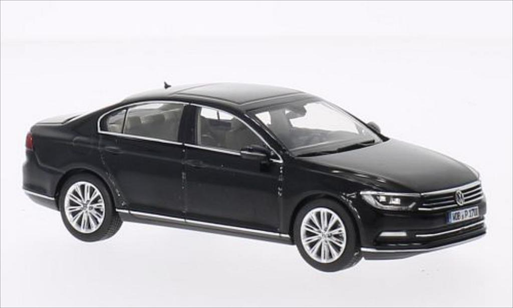 Volkswagen Passat 1/43 Herpa Limousine metallise black 2014 diecast model cars