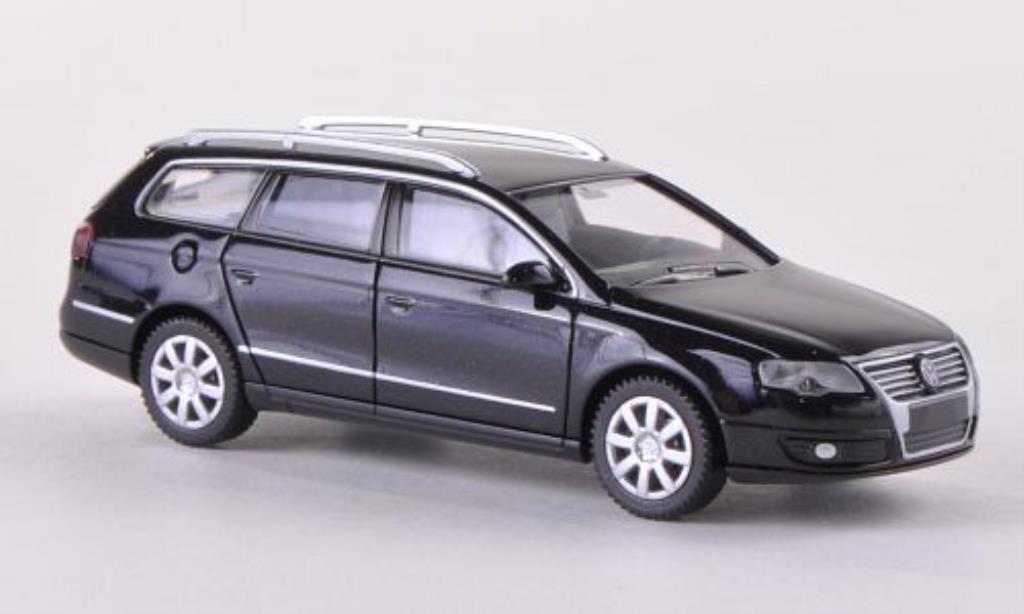 Volkswagen Passat 1/87 Wiking Variant (B6) black 2005 diecast