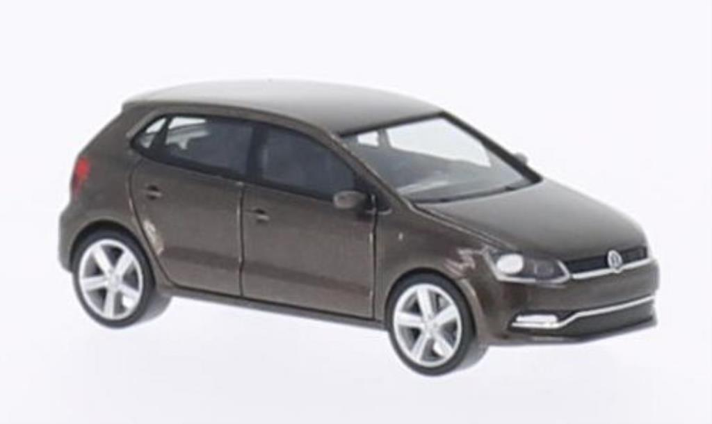 volkswagen polo 6c braun 5 turer 2014 herpa diecast model car 1 87 buy sell diecast car on. Black Bedroom Furniture Sets. Home Design Ideas