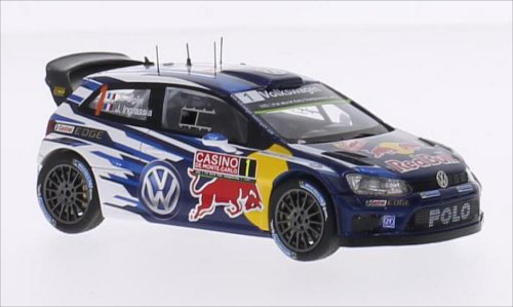 Volkswagen Polo 1/43 Spark R WRC No.1 Motorsport Red Bull WRC Rally Monte Carlo 2015 /J.Ingrassia miniature