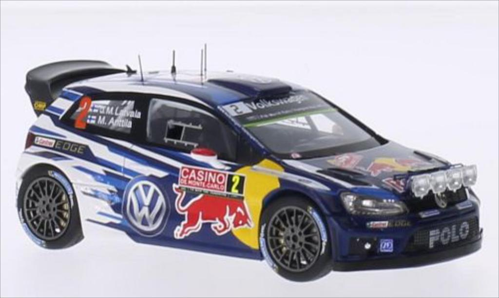 Volkswagen Polo 1/43 Spark R WRC No.2 Volkswagen Motorsport Red Bull Rallye WM Rally Monte Carlo 2015 /M.Antilla