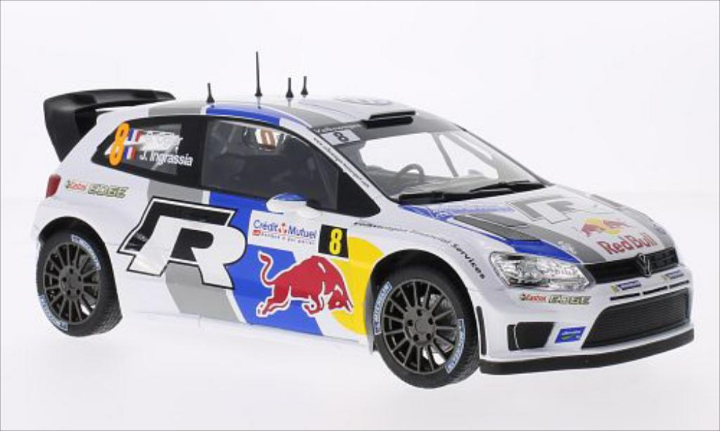 volkswagen polo miniature r wrc no 8 red bull wrc rallye de france 2013 j ingrassia norev 1 18. Black Bedroom Furniture Sets. Home Design Ideas